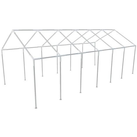 Estructura de toldo de aceros para eventos, 12 x 6 cm - Plateado