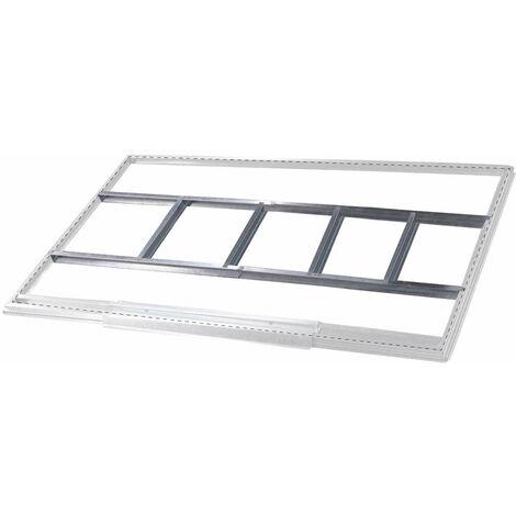 Estructura metálica para suelo cobertizo