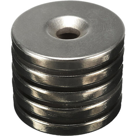 Estuche 10 ud. imán disco neomidio con agujero ø18x5mm. (Köppels I1005I)