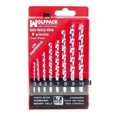 Estuche brocas widia profesional wolfpack 8 piezas