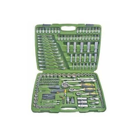 Estuche de herramientas de 216 piezas con vasos hexagonales JBM
