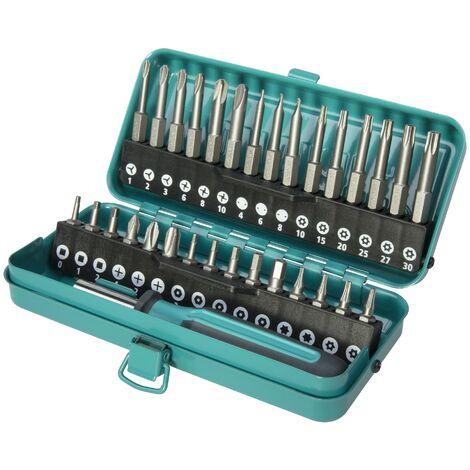 Estuche de puntas de seguridad, 31 piezas en caja metálica. - Wolfcraft - 1386000