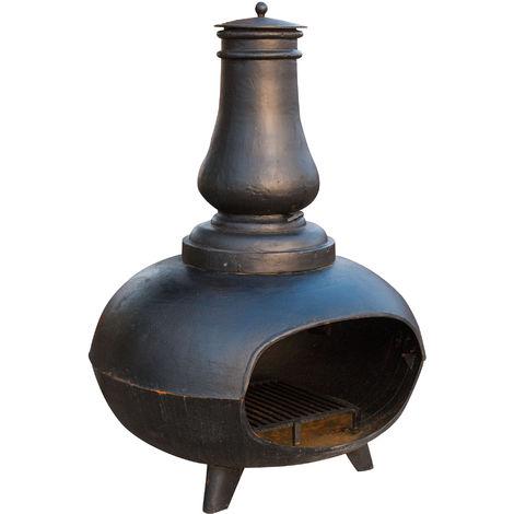 Estufa / brasero con cebolla en hierro fundido L115xPR100xH155 cm