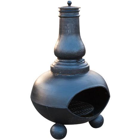 Estufa / brasero con cebolla en hierro fundido L85xPR75xH125 cm
