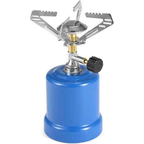 Estufa de campamento portatil Estufa de tanque de gas Estufa de campamento de propano con quemador ajustable para exteriores, Modo 2