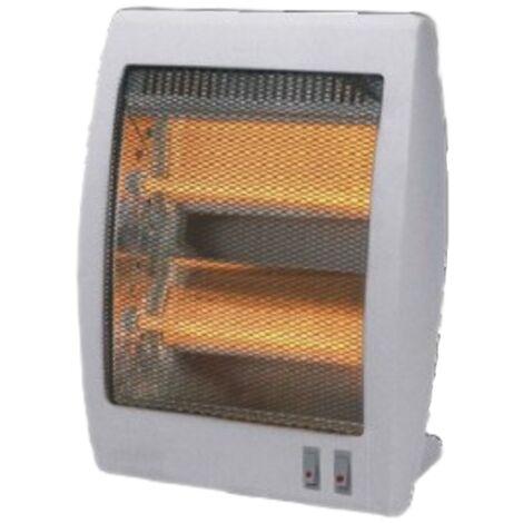 Estufa de cuarzo, 2 ajustes de temperatura. 2 potencias: 400W / 800W.