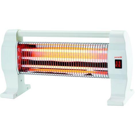 Estufa de cuarzo, 3 ajustes de temperatura 400/800/1200W