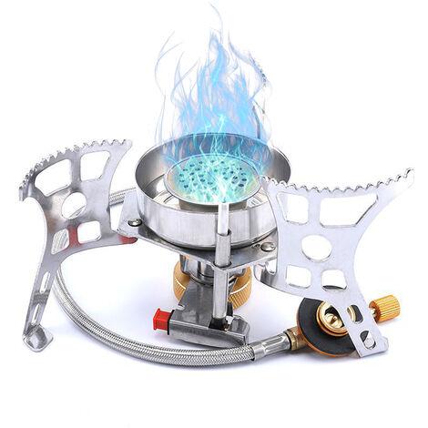 Estufa de gas portatil Horno de gas dividido Estufa de camping al aire libre Estufa de encendido piezoelectrico / Estufa de encendido manual, Estufa de encendido Pizeo, 1 #