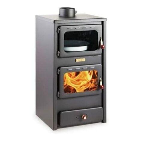 """Estufa de le?a con horno, 8.4 kw de potencia de calentamiento, tapa de acero, modelo """"Kupro Lux Oven Steel"""""""