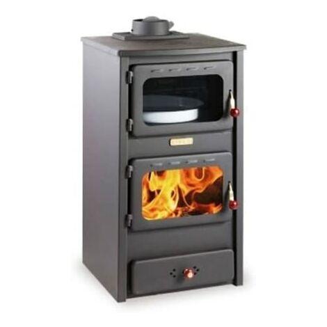 """Estufa de le?a con horno, 8.4 kw de potencia de calentamiento, tapa fundida, modelo """"Kupro Lux Oven Cast"""""""