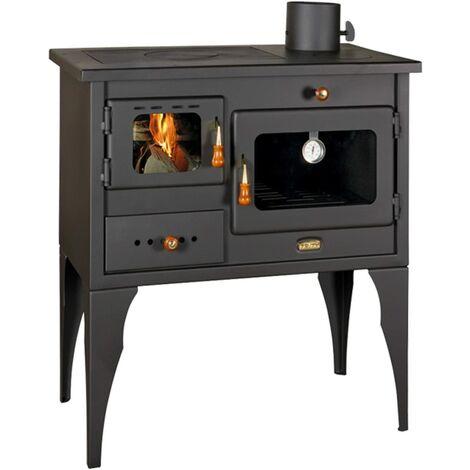 Estufa de leña chimenea horno hecha de hierro fundido para usar con combustible sólido 10 kw
