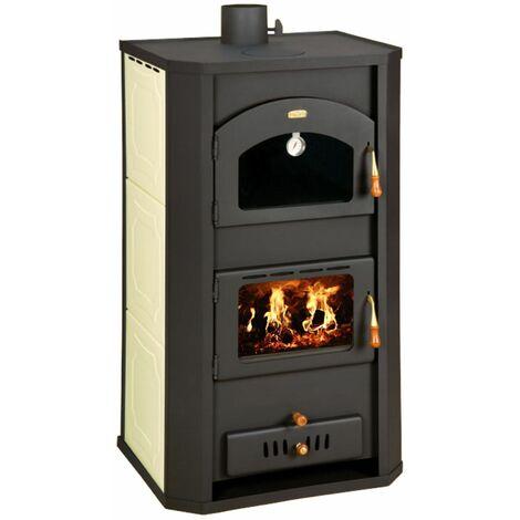 """Estufa de leña con horno para sistema de calefaccion central, estufa de cocci?n con caldera integral de 6 + 20 kw de potencia de calentamiento, modelo """"Prity FG W20"""""""