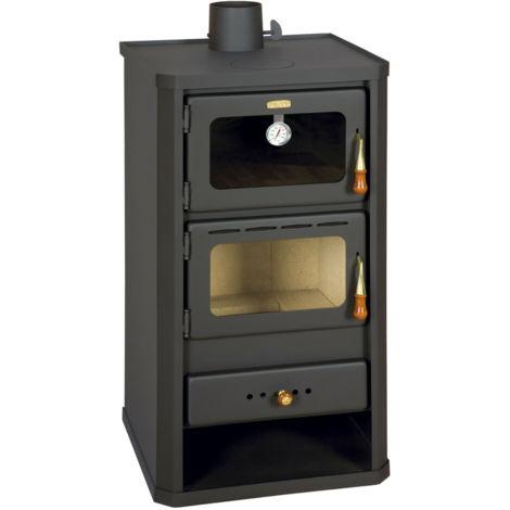 """Estufa de leña con horno, potencia de calentamiento de 12 kw, estufa de combustible solido, modelo """"Prity FM"""""""