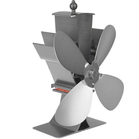 Estufa de leña de 4 cuchillas Soplador Quemador de registro Chimenea Ventilador de ahorro de energía térmica