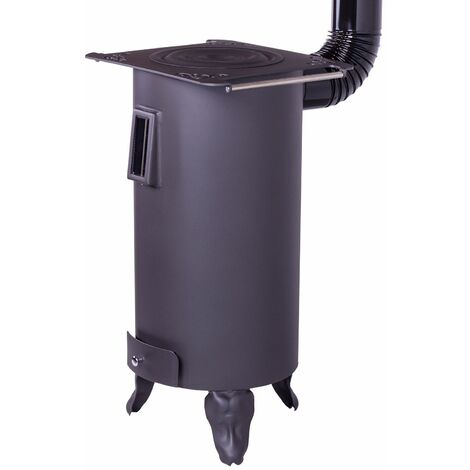 Estufa de leña redonda modelo Rustica 7,5 KW- Juan Panadero