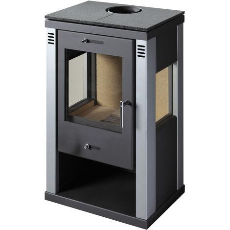 Estufa de leña VISION S 7,5kW - 10kW Serpentina