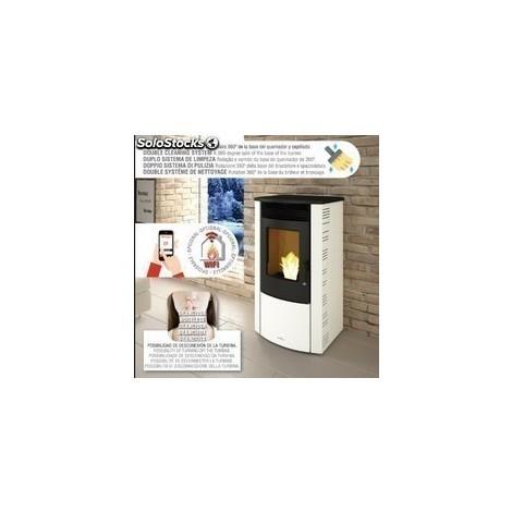 Estufa De Pellet 11 Kw Canalizable Con Limpieza Automática + Kit De Canalizacion