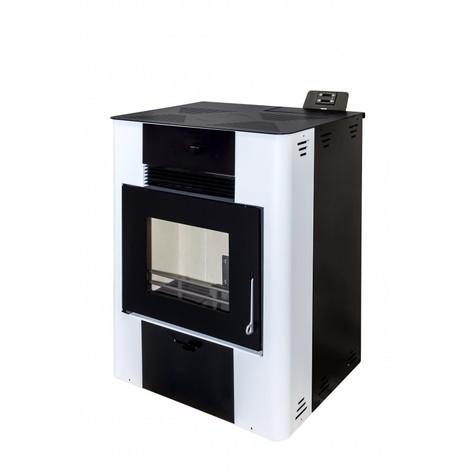 Estufa de Pellet LEÑA PELLET 15 KW Blanco y Negro - Eider Biomasa