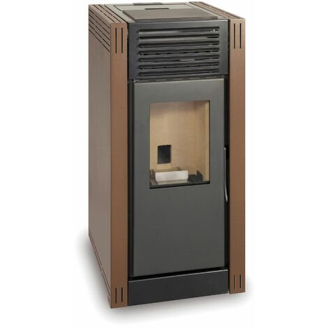 Estufa de pellet NAREL 7kW marrón A+ Ecodesign 2022
