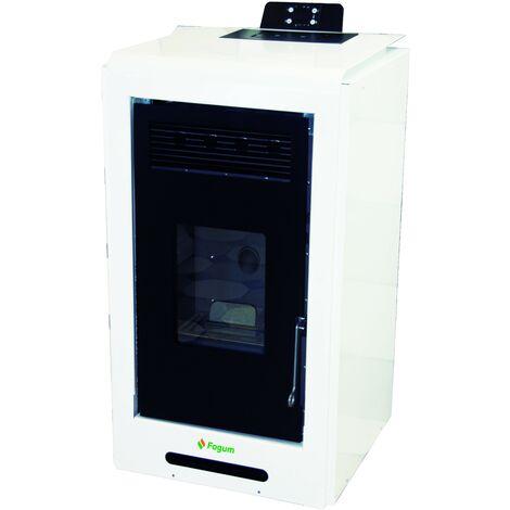 Estufa de pellets ATRIA 10 - FOGUM - Color: Blanco
