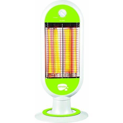 Estufa Elec 1000w Fibra Carbono 2 Barras Oscilante Vivahogar