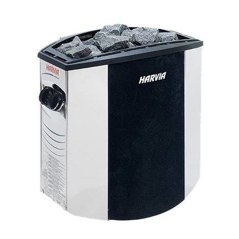 Estufa eléctrica Harvia Vega Lux 6000W cm 50x34x51 MPCSHOP SN-HARVIA-BX60