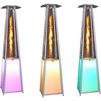 Estufa Exterior para Terrazas con Iluminación LED de 13 Colores con diseño en Pirámide de 13kw