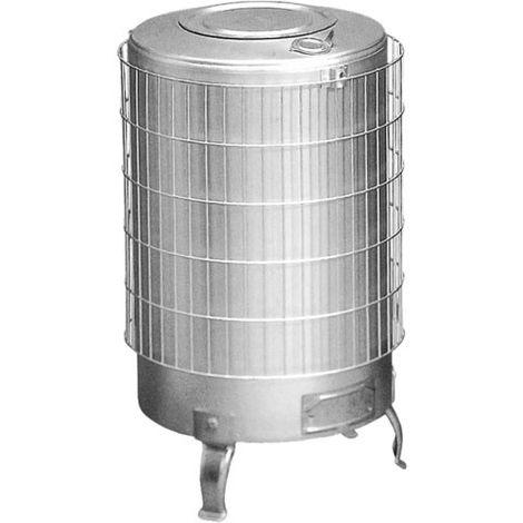 Estufa leña de aluminio sin parrilla interior y salida horizontal Theca 12 KW
