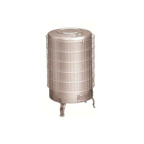 Estufa leña de aluminio sin parrilla interior y salida horizontal Theca 14.5 KW