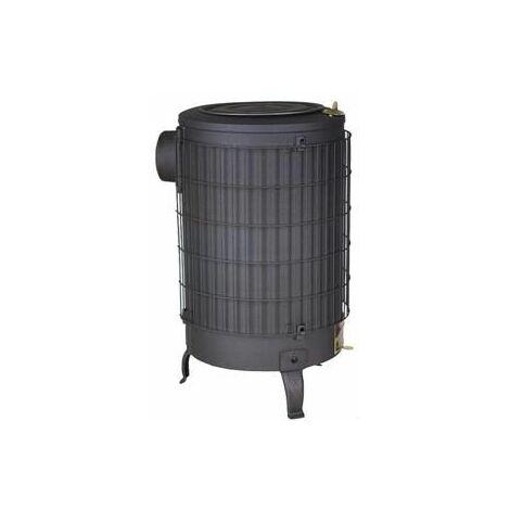 Estufa leña negra con parrilla interior Theca 12 KW