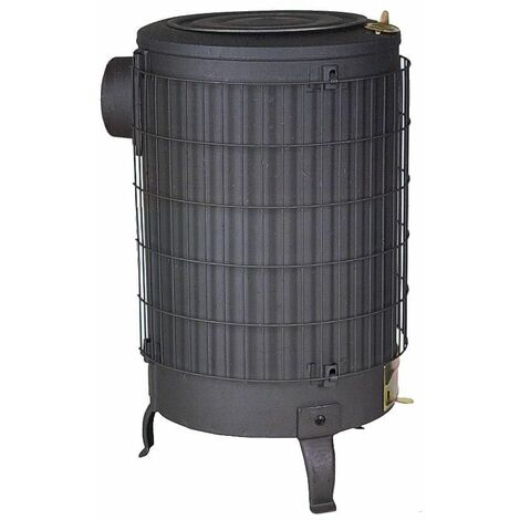 Estufa leña negra sin parrilla interior Theca 15 KW