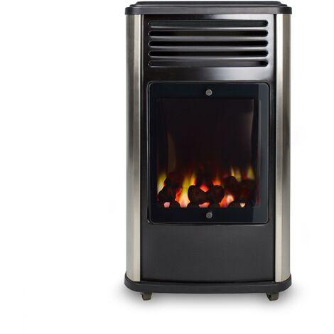 Estufa portátil a gas Manhattan Metalizado Fireside 3,4 kW