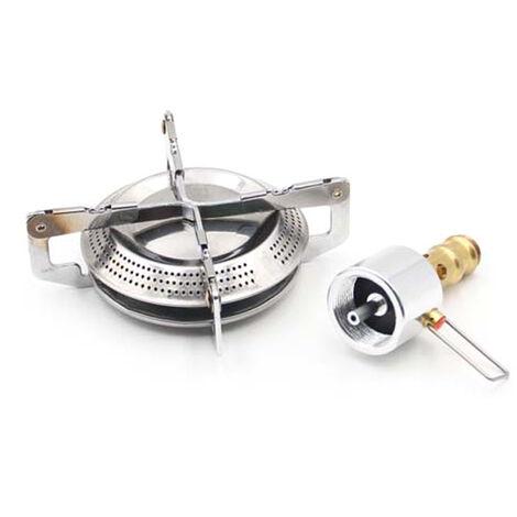 Estufa portatil de gas propano estufa de gas propano compacto con quemador ajustable para acampar al aire libre