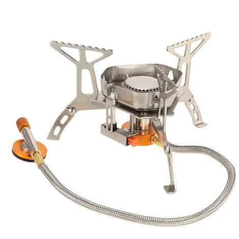 Estufa TOMSHOO camping gas portatil cocinar al aire libre plegable plegable de Split Cocina de gas del quemador con la caja