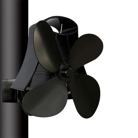 Estufa Ventilador Chimenea Calefacción 4 Palas 1100rpm