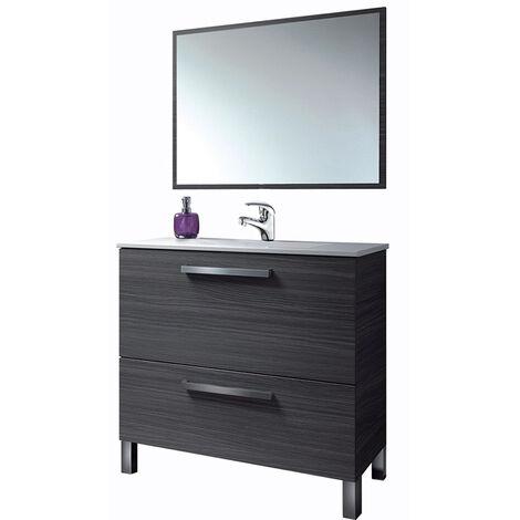 Estupendo Conjunto Mueble Baño con 1puerta abat.+ 1cajon con espejo y grifería Incluida