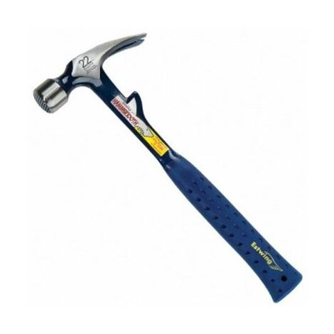 Estwing E6/22TM Straight Claw Hammer Milled Face 22oz Blue Shock Reduction Grip