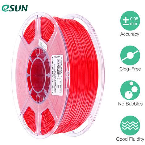 Esun Petg 1.75Mm 3D Printer Filament Impression Consommables Precision Dimensionnelle: +/- 0,05 Mm 1 Kg (2.2Lb) Spool Materiel Recharges Solide, Rouge