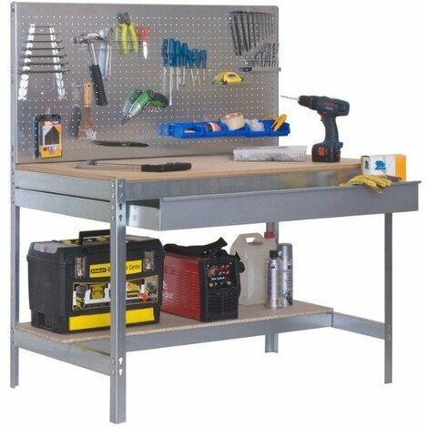 Etabli 2 niv./panneau/1 tiroir 850 Kg L. 1210 x Ht. 1445 x P. 610 mm KIT SIMONWORK BT2 BOX 1200 - 338100945126012 - Simonwork - -