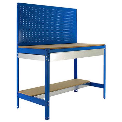 Etabli 2 niv./panneau/1 tiroir 850 Kg L. 1510 x Ht. 1445 x P. 610 mm KIT SIMONWORK BT2 BOX 1500 - 448100945156012 - Simonwork - -