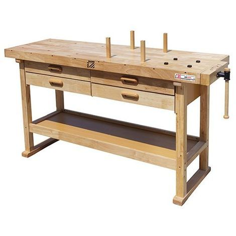 Etabli bois 1625 x 510 mm 4 tiroirs - WB162L - Holzmann - -