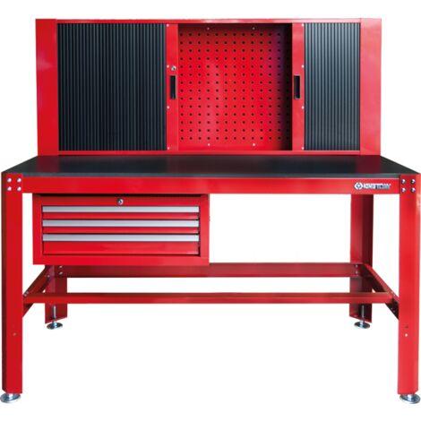 Etabli d'atelier avec armoire coulissante