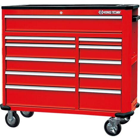 Établi mobile d'atelier - 11 tiroirs