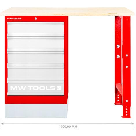 Etabli modulaire avec armoire à tiroirs 120 cm MW-Tools MOD121