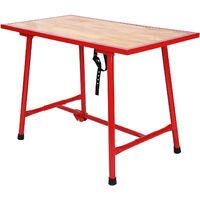 Établi pliable Table d'atelier Pliante Surface de montage 120x62,5 cm Table de travail Bois