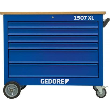 Etabli roulant 1507XL avec 6 tiroirs 1250x550x985mm GEDORE