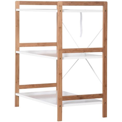 Etagère 3 niveaux, style scandinave en bambou – 78 cm