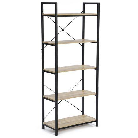 Etagère 5 niveaux Détroit design industriel 170 cm