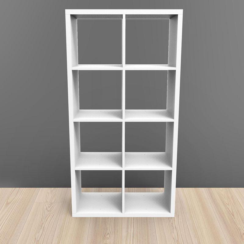 Etagere 8 Cases Blanc 138 8 X 71 Cm Kubin 3760232690574