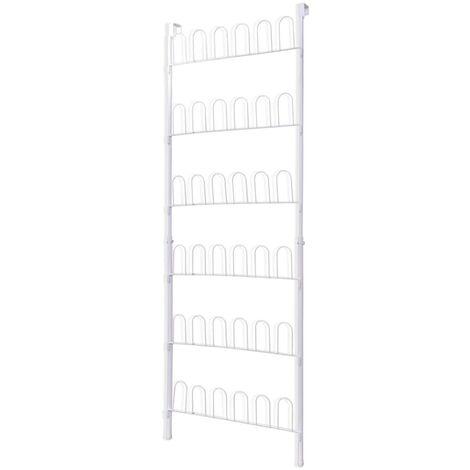 Étagère à chaussures Blanc Acier pour 18 paires de chaussures